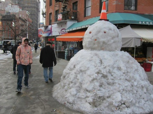Lower East Side Giant Snowman