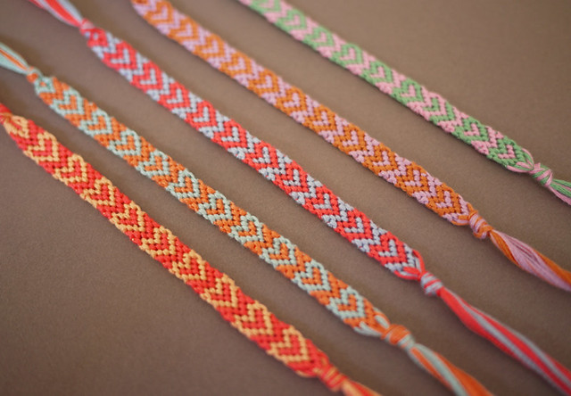 heart friendship bracelets
