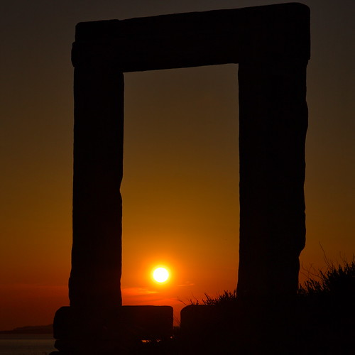 Naxos Temple at Sunset