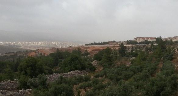 New neighborhood construction in Tzur Hadassah