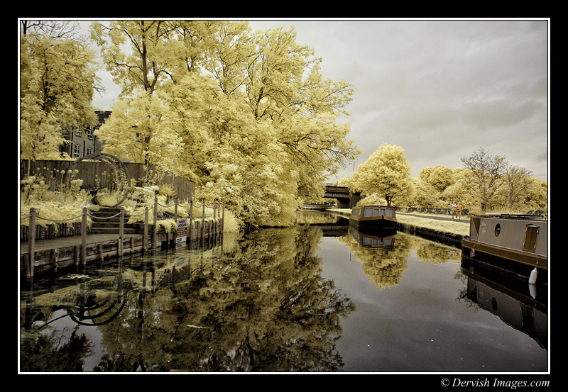Leeds & Liverpool Canal - Infrared False Colour