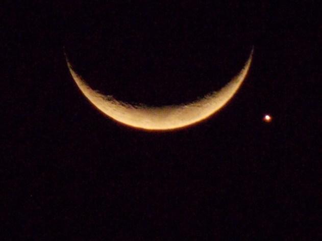 Hoje a Lua encontra Vênus