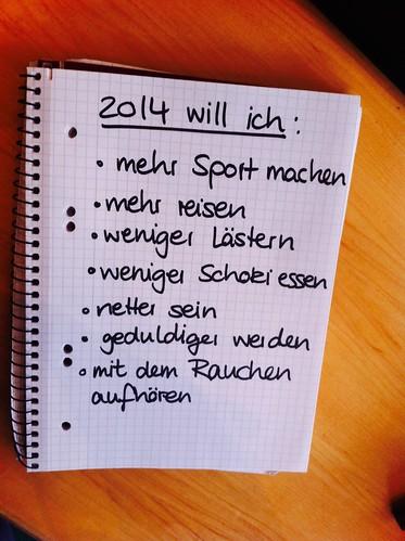 Vorsätze 2014