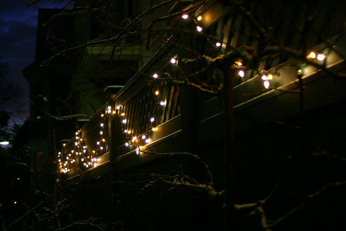 lights along the porch