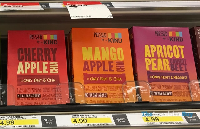Pressed by King Fruit Bars (Cherry Apple Chia, Mango Apple Chia, and Apricot Pear Carrot Beet)