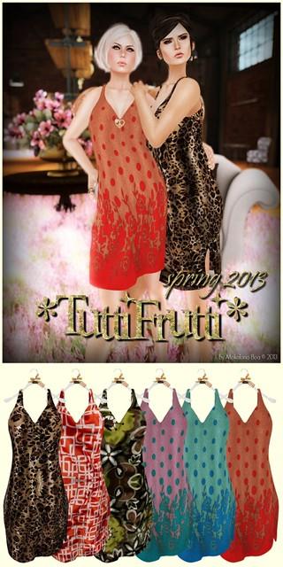_TuttiFrutti_ Mesh Spring Dresses