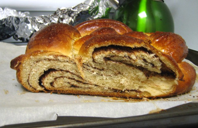 Nutella challah, sliced
