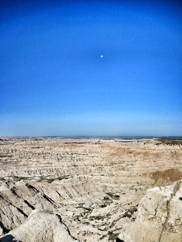 Our first view of the badlands - amazing!