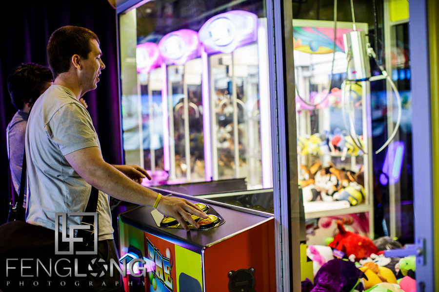 Zac playing crane game