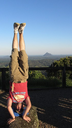42. glass house mountains headstand