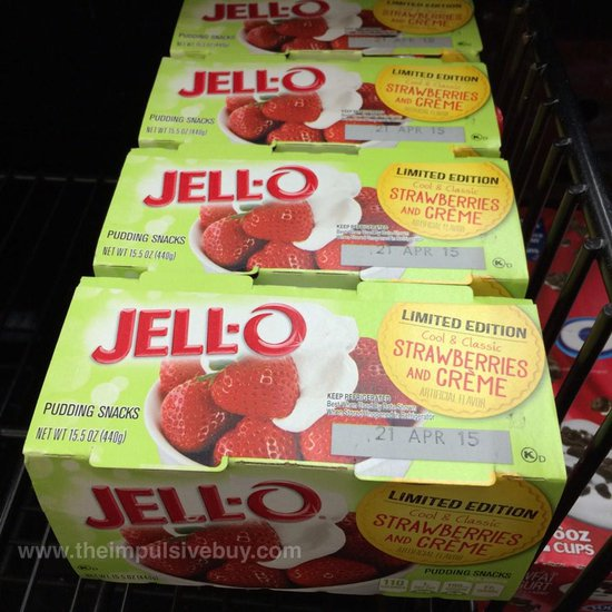 Jell-o Limited Edition Strawberries and Creme Pudding Snacks