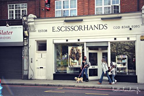 E Scissorhands hairdresser london