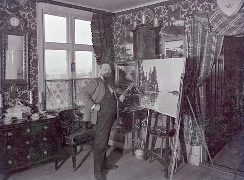 Didrik von Essen i sin ateljé