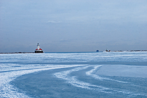 Chicago, Light House, winter, ice