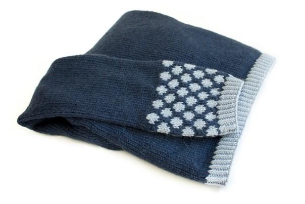 Colourwork detail on sweater sleeve
