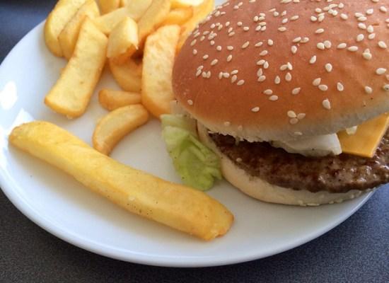 burger ad fries