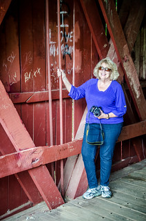 Glynda at Campbell Covered Bridge