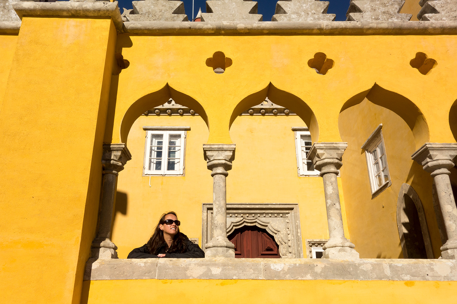 Glinda enjoying the sun at Pena Palace.