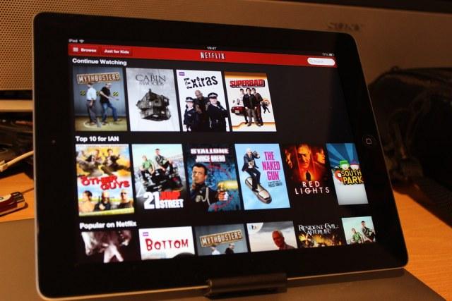 Netflix on an iPad