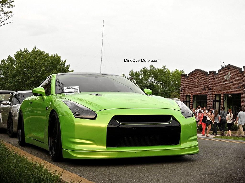 Green Modified Nissan GTR