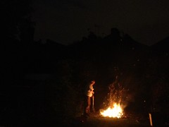 bonfire in backgarden