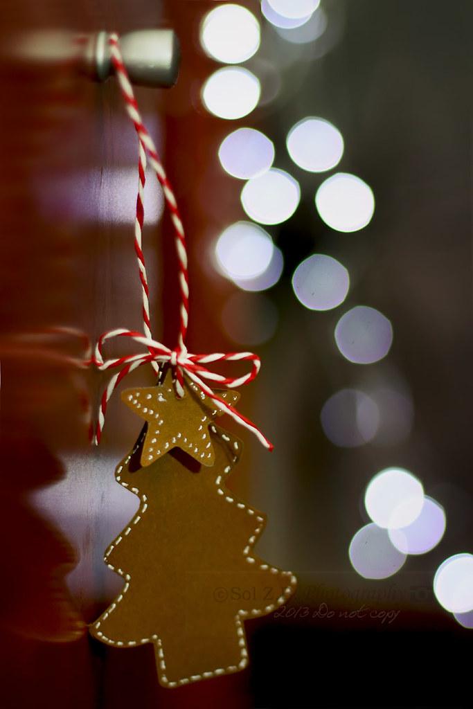 adorno Navidad con bokeh. Christmas ornament