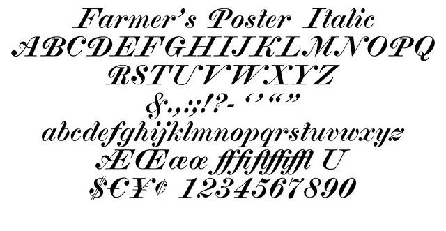 Farmer's Poster Italic