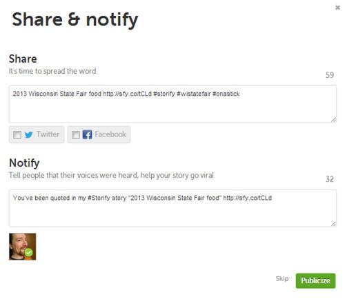 Storify Notifications