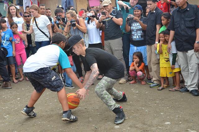 Justin Bieber in Tacloban