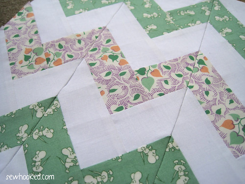 Paper Piecing Vintage BOM February
