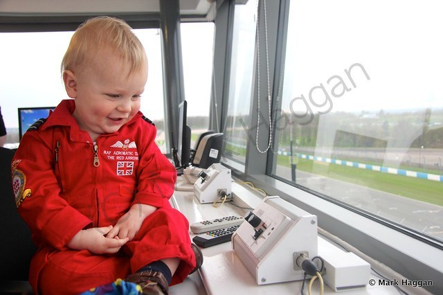 Xander in Race Control at Donington Park