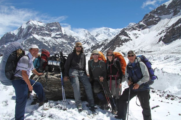 The joint Austrian/American/Kyrgyz/German/British expedition to Camp Dikiy. South Inylchek Glacier Trek