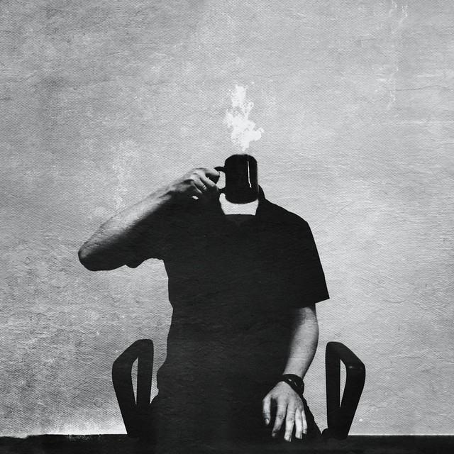 Self-portrait with a mug