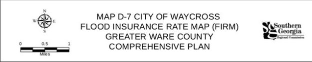 Map D-7 City of Waycross Flood Insurance Rate Map (Firm) Greater Ware County Comprehensive Plan