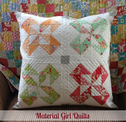 Scrappy Colorado quilt block pillow
