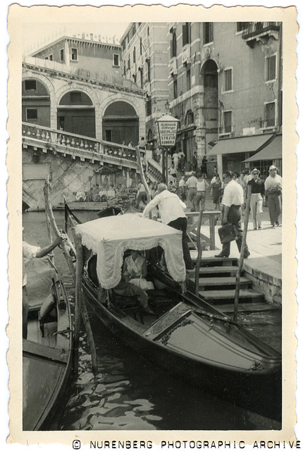 20130629-0039 Gondolas Venice 1955