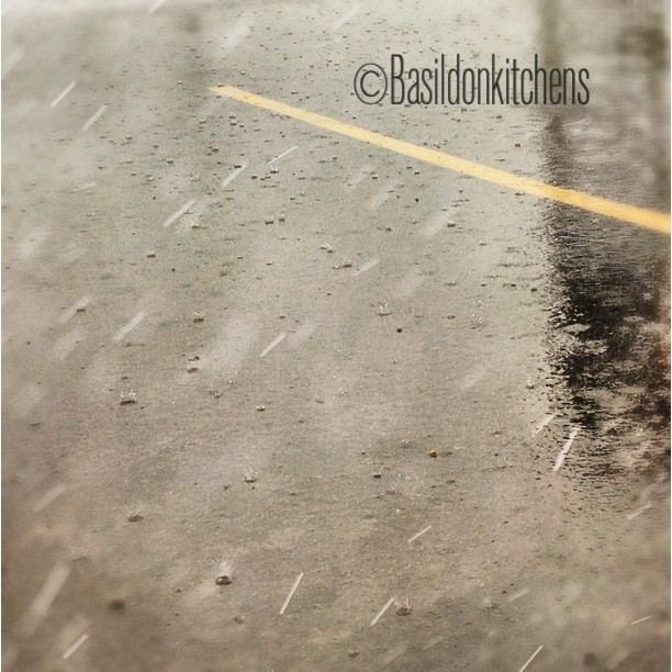 Aug 22 - focus {I tried to focus on the rain drops on the pavement; not easy & not as impressive as I would have liked} #photoaday #rain #weather #focus