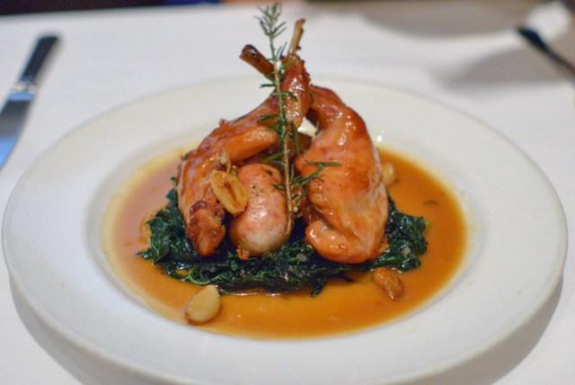 Rabbit Con Salsiccia roasted garlic, lemon & rosemary