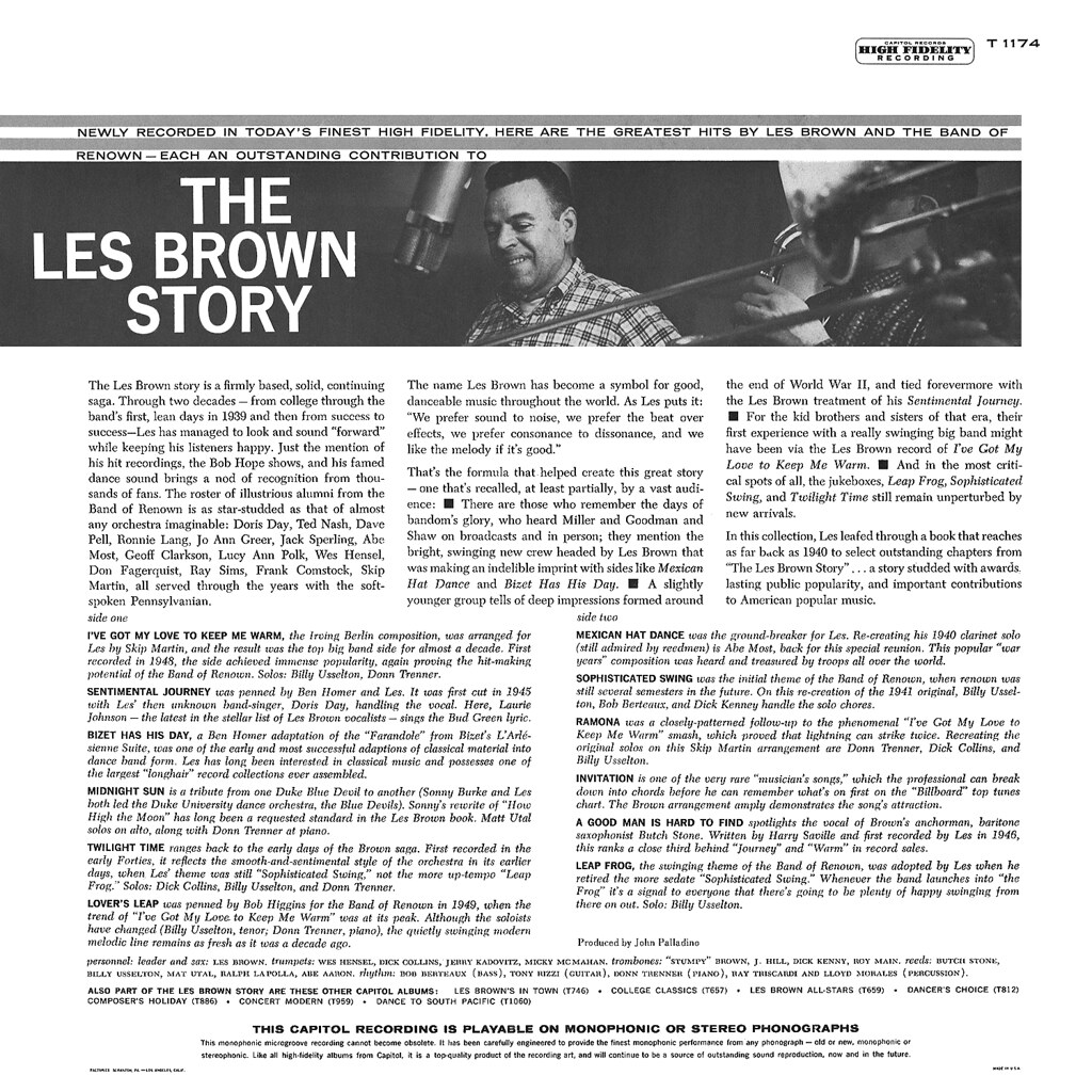 the les brown story Find a les brown - the les brown story first pressing or reissue complete your  les brown collection shop vinyl and cds.