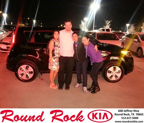 Thank you to Maria Montgomery on your new 2014 #Kia #Soul from Fidel Martinez and everyone at Round Rock Kia! #NewCarSmell by RoundRockKia