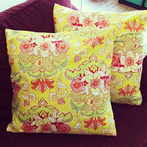 Slip covers for the throw pillows on our couch