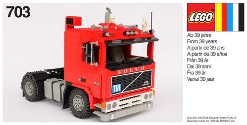 "VOLVO F12 INTERCOOLER 1:13 SCALE LEGO® MODEL - ""SEVENTIES LOOK"" LEGO BOX"