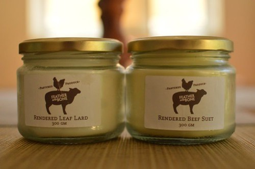 Lard and beef suet from Feather and Bone