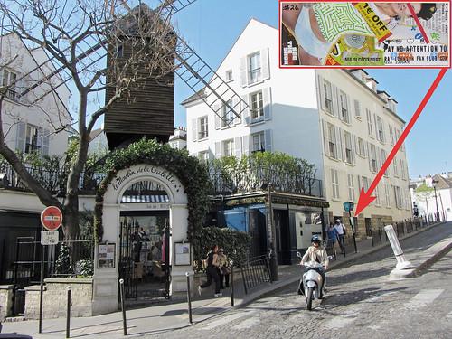 RJFC sticker #26 (left in Monmartre)
