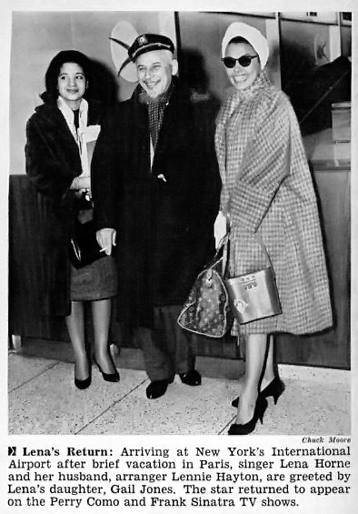 Lena Horne Lennie Hayton And Daughter Gail Jones Return F