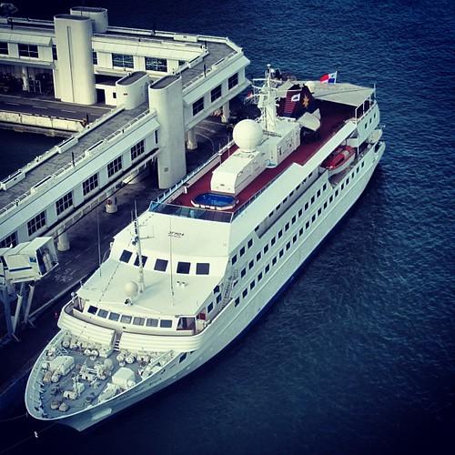Italian cruise ship docked in #singapore by @MySoDotCom