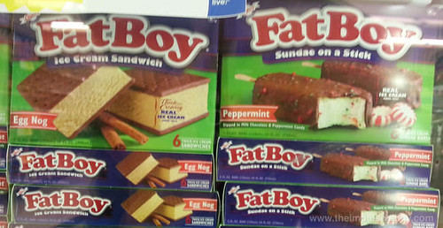 Fat Boy Egg Nog Ice Cream Sandwiches and Fat Boy Peppermint Sundae on a Stick