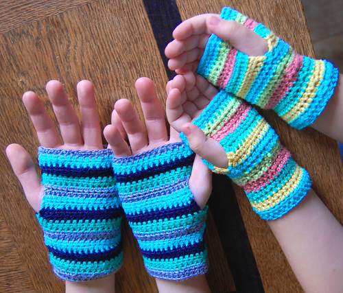 crochet wristlets