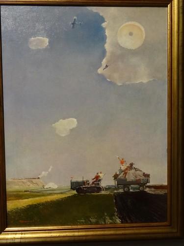 A parachute jump, by Georgy Nissky. (1930s).