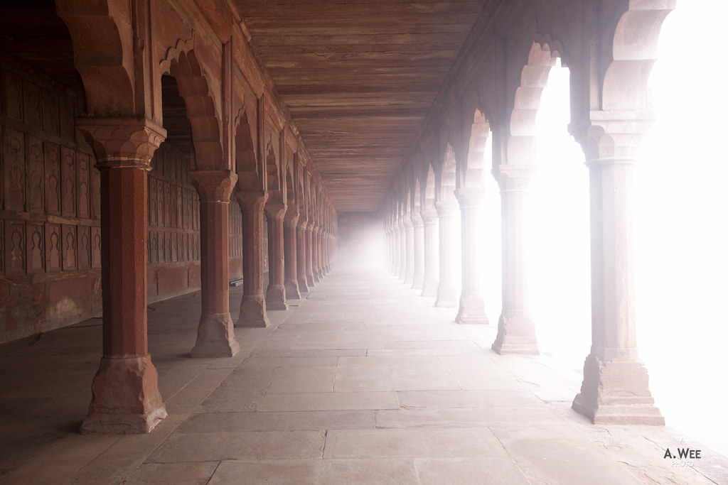 Walkway Corridor in Fog